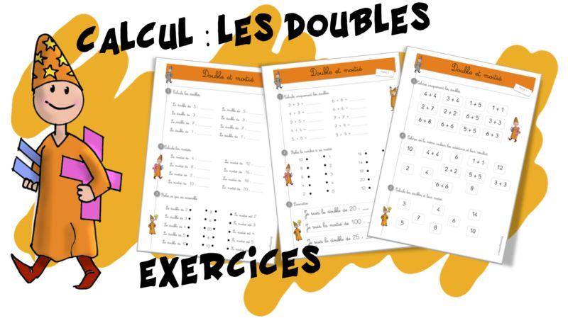 Maths : Les doubles   Bout de Gomme   Calcul ce1