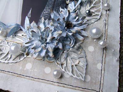 Ravn Design: Bryllupslayout og blomster tutorial - DT Panduro Hobbys Scrapbooking