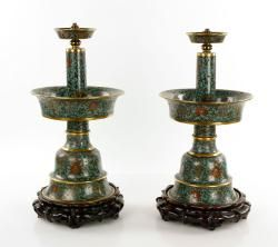 19th C.  Chinese Cloisonne Lamps The Estate of Mary L. Alchian of Palm Springs, CA | Kaminski Auctions 1/18/15