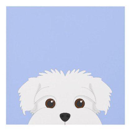 Maltese Dog Portrait Panel Wall Art Maltese Puppy Dog Dogs Pet Pets Cute Maltese Dogs Dog Portraits Dog Illustration Art