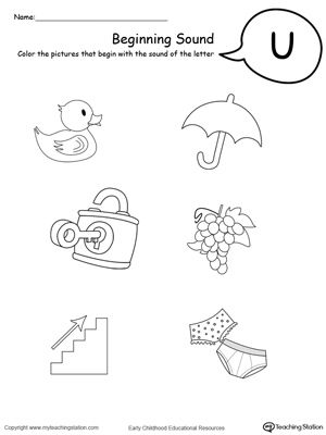 Beginning Sound Of The Letter U With Images Beginning Sounds