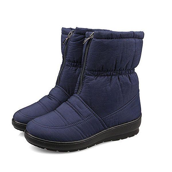 4d86a6fcf55b Big Size Women Winter Keep Warm Snow Waterproof Boots Cotton Boots Plush Warm  Boots - Banggood Mobile