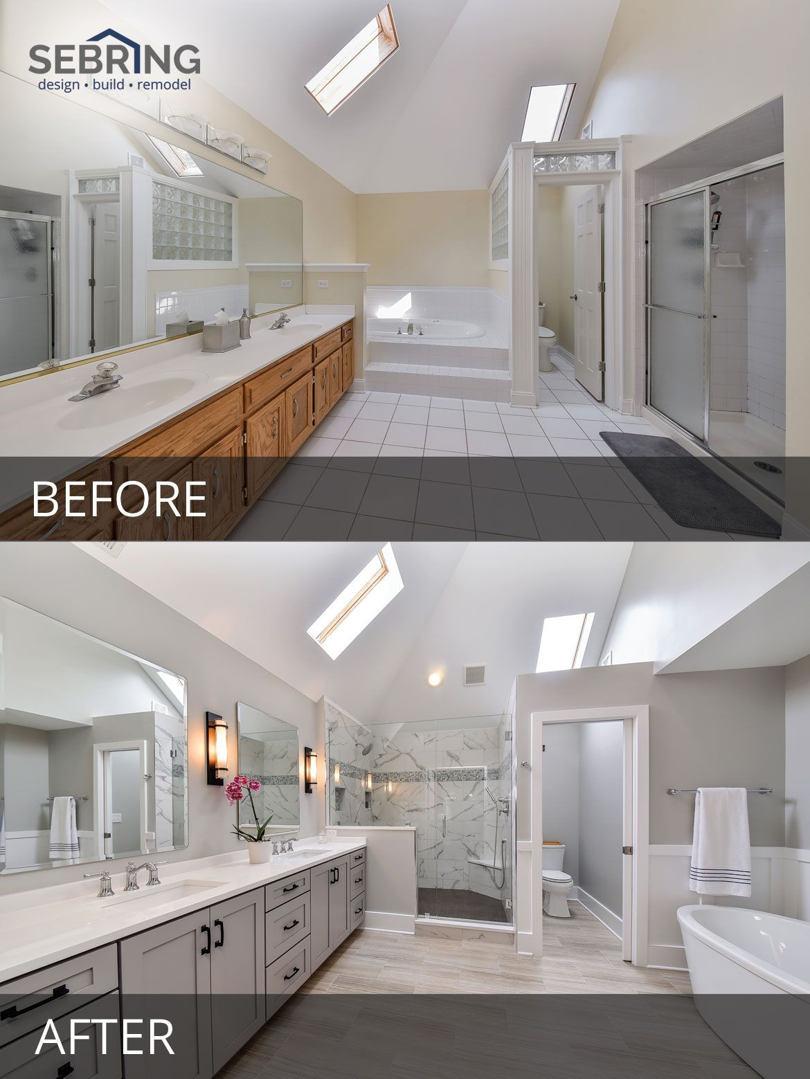 Photo of Sarah & Ray's Master Bathroom Before & After Pictures