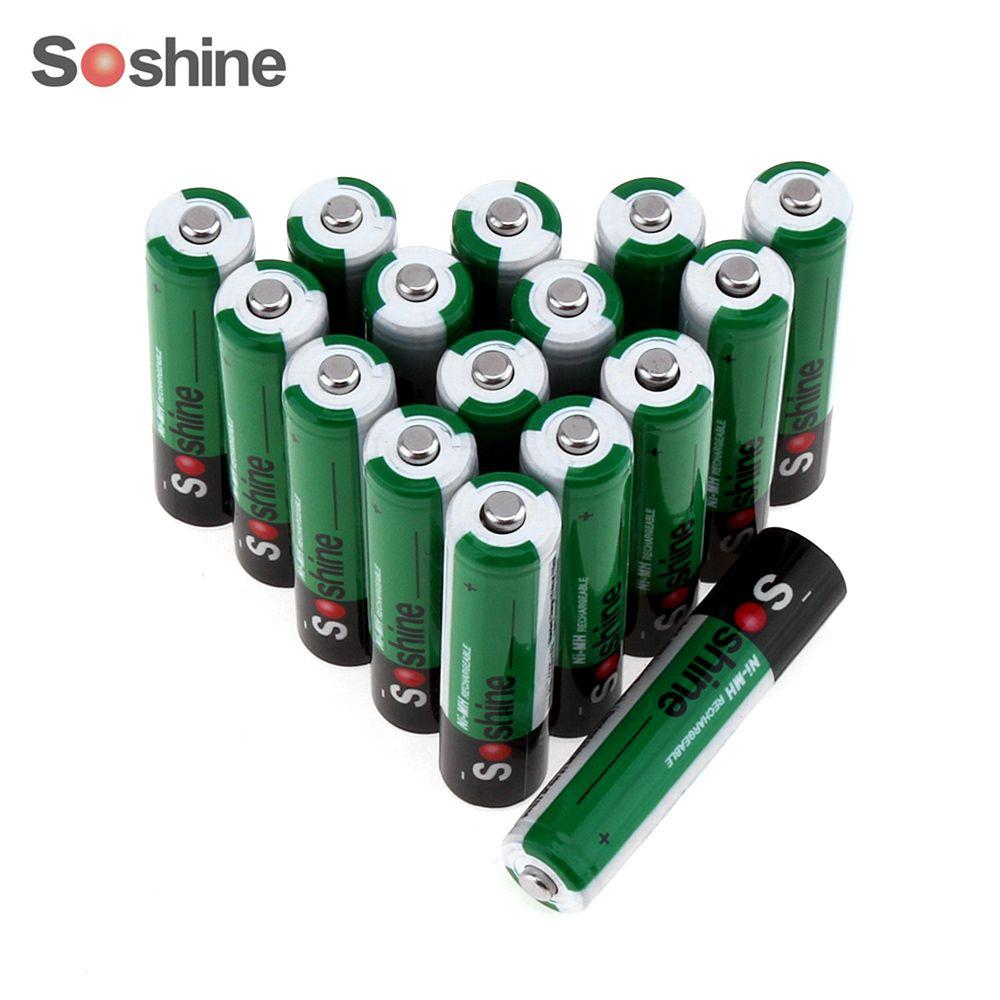 16pcs Soshine 1 2v Aaa 1100mah Ni Mh Rechargeable Battery With 1000 Cycle Portable Battery Box Rechargeable Batteries Portable Battery Nimh