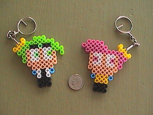 Details About Fairy Godparents Perler Bead Keychains Perler Bead