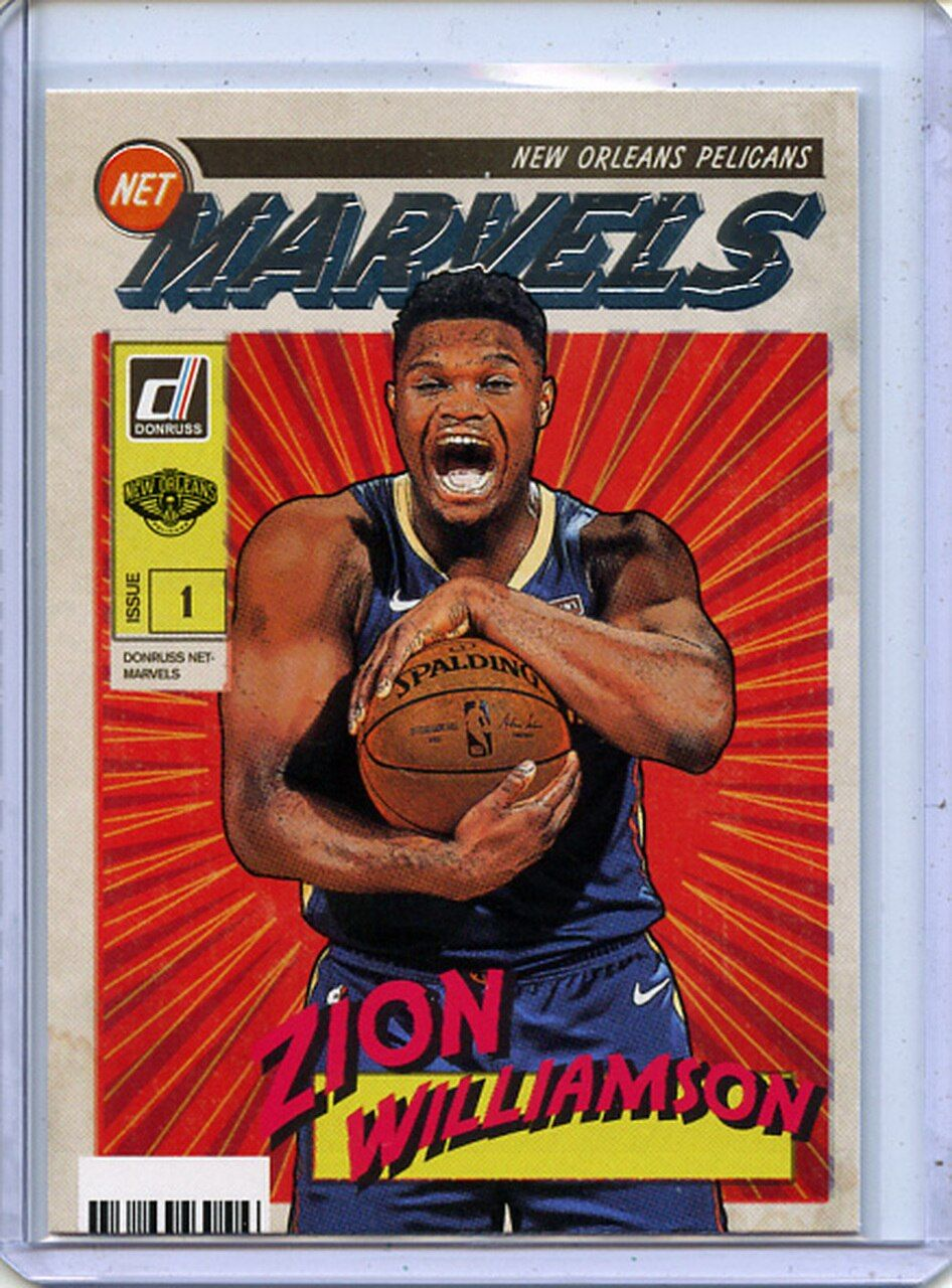 Zion Williamson 2019 20 Donruss Net Marvels 4 In 2020 Sports Design Inspiration Sports Cards Zion