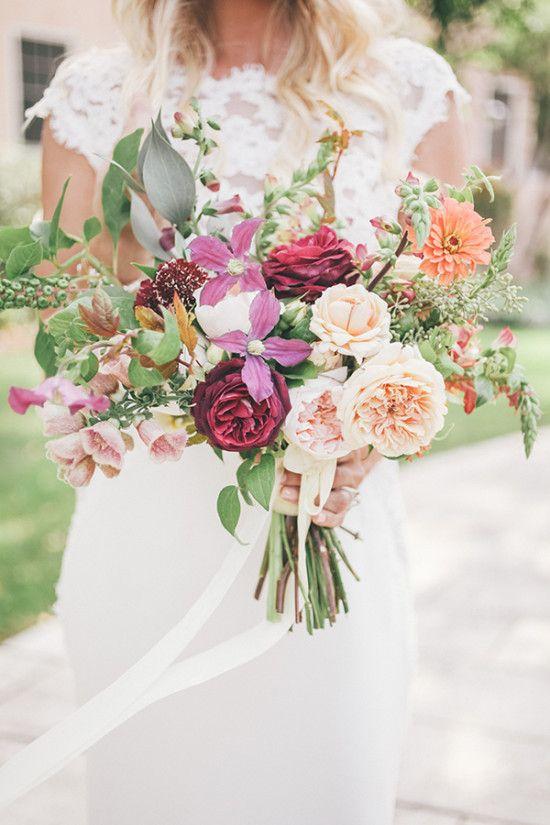 Coloful wedding bouquet