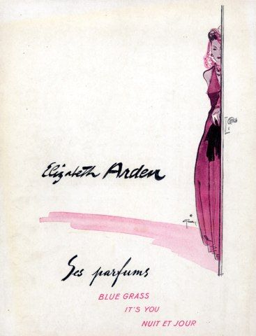Elizabeth Arden (Perfumes) 1941 Vintage advert Perfumes illustrated by René Gruau