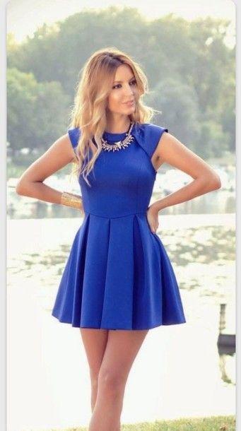 Royal Blue Homecoming Dress,Short Prom Dresses,Satin Homecoming ...