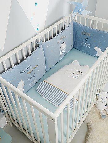 Tour De Lit Ours Blanc Bebe Garcon Gris Bleu A 25 00 Decouvrez Nos Collections Mode A Petits Prix Dans Notre Ra Tour De Lit Bebe Tour De Lit Bebe Garcon