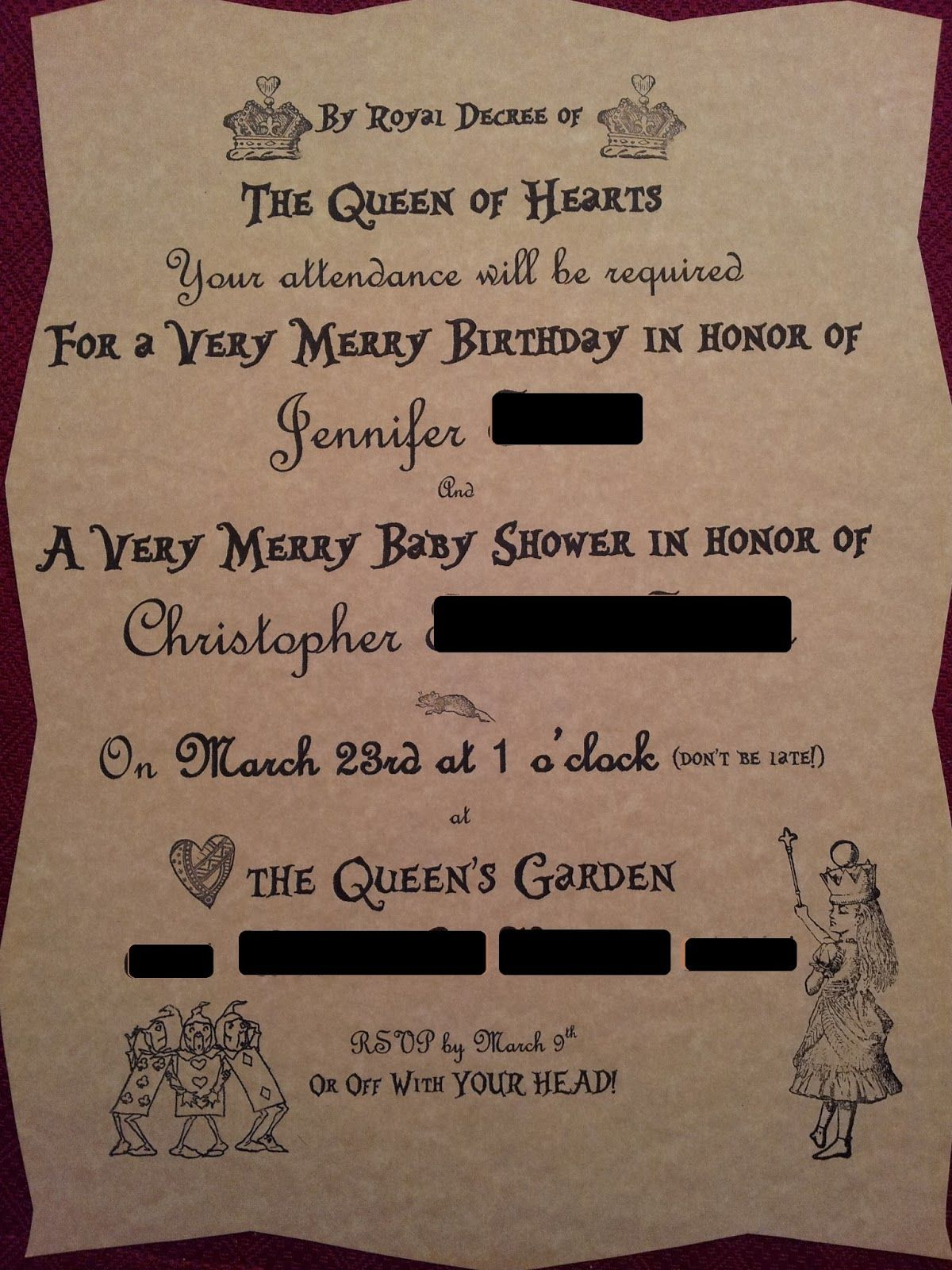 mad hatter teparty invitations pinterest%0A Alice In Wonderland Tea Party Invitations  I should do this only with very  merry unbirthday