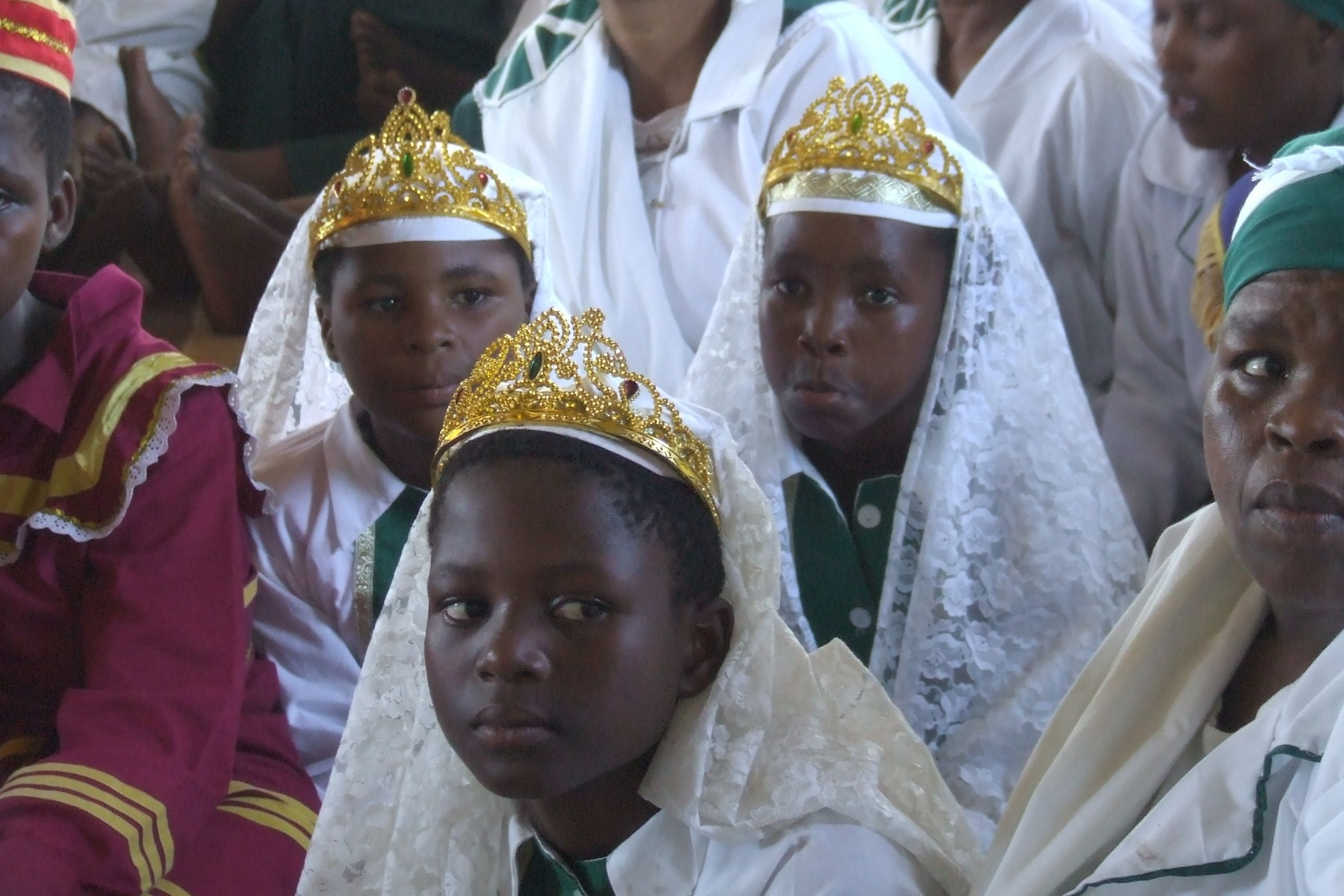 Zulu worshippers at a United African Apostolic Church, near