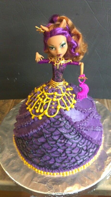 Fantastic Clawdeen Wolf Monster High Doll Cake Monster High Birthday Cake Personalised Birthday Cards Sponlily Jamesorg