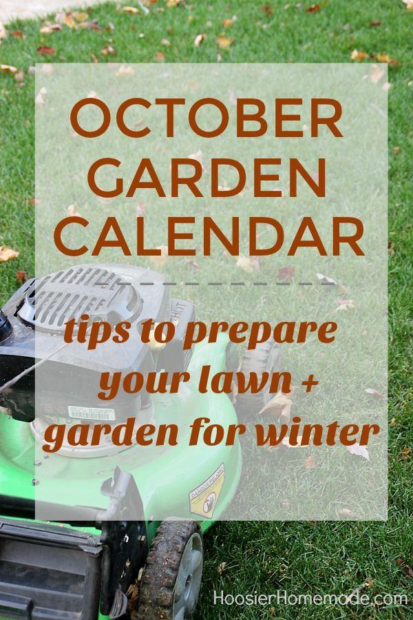 Garden Calendar for October