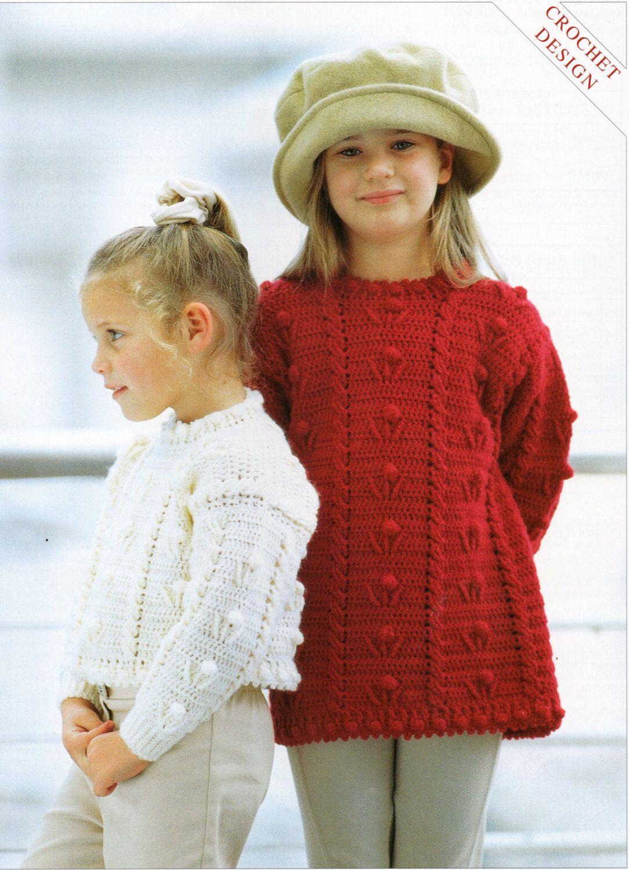 Crochet Pattern Girls Crochet Sweater Girls Crochet Jumper Crochet