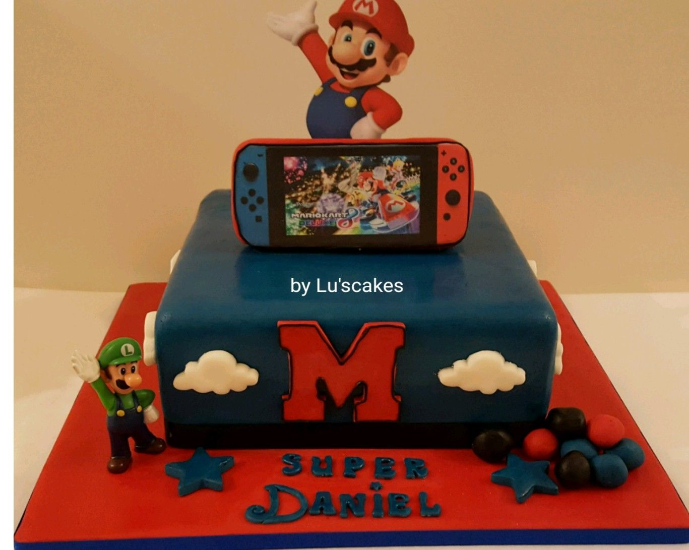 Outstanding Super Mario Nintendo Switch Chocolate Birthaday Cake By Luscakes Funny Birthday Cards Online Alyptdamsfinfo