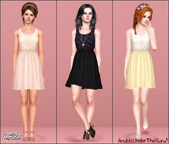 #Sims3 Anubis Under The Sun ♪: Sweet Temptation ~ Lace dress