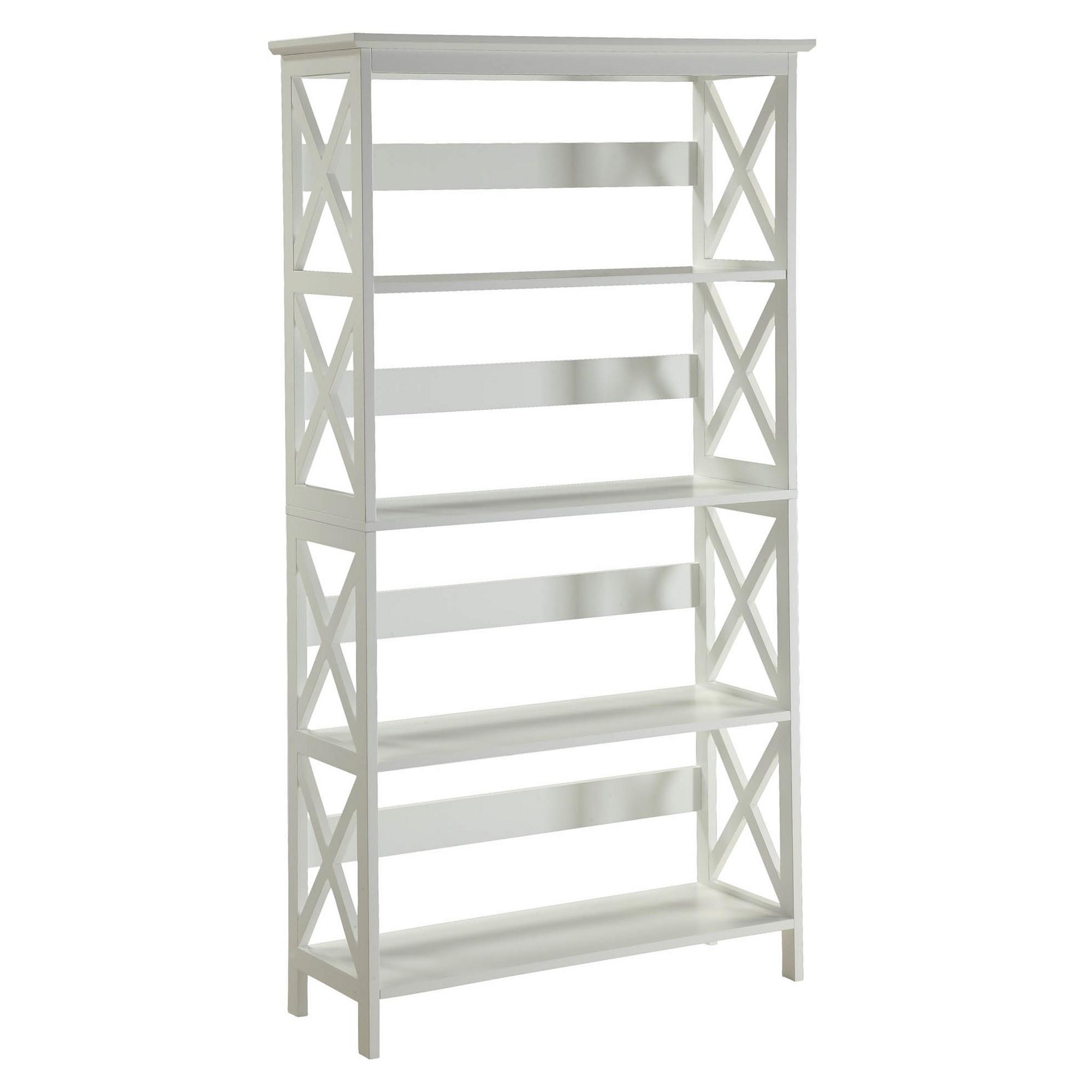 """Decorative Bookshelf 59.75"""" White Convenience Concepts"""