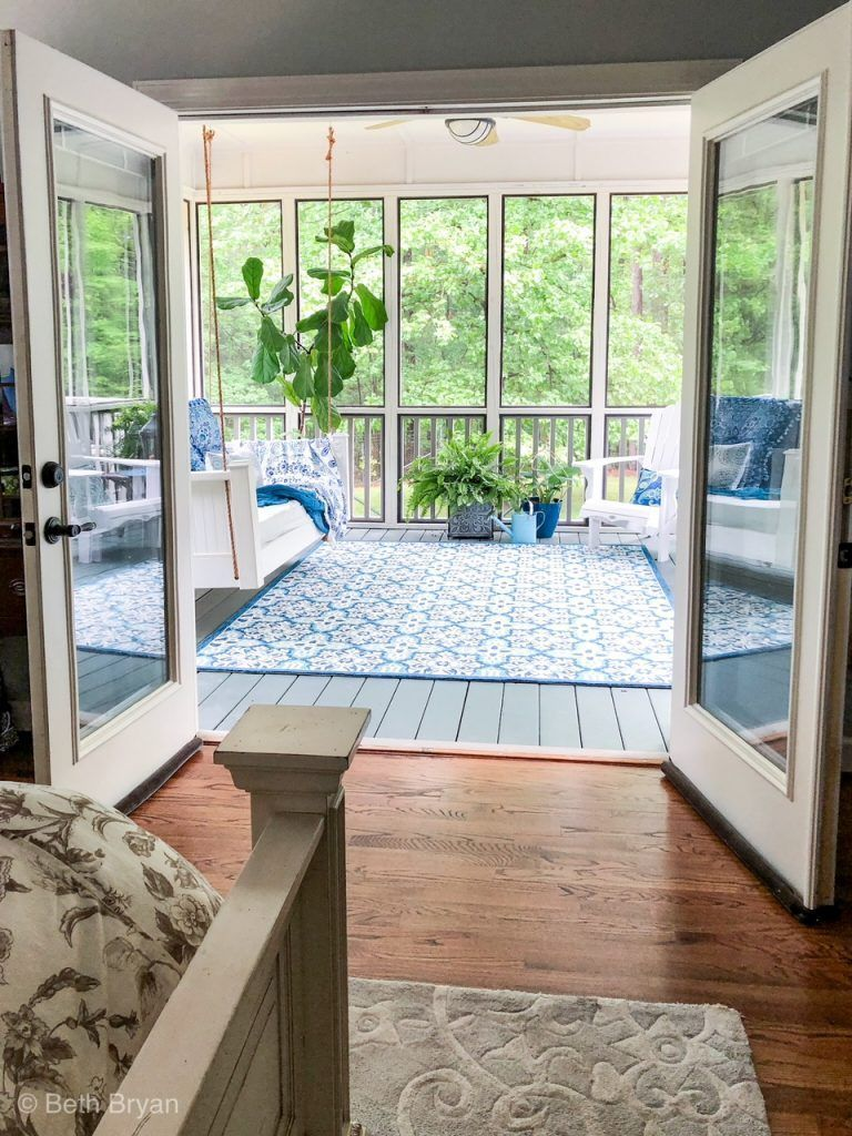Screened in back porch off master bedroom creates an outdoor ...