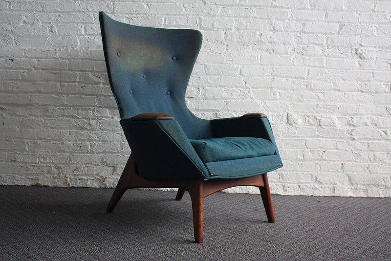 Magnificent Striking Adrian Pearsall Mid Century Modern Wing Chair 2231 Gmtry Best Dining Table And Chair Ideas Images Gmtryco
