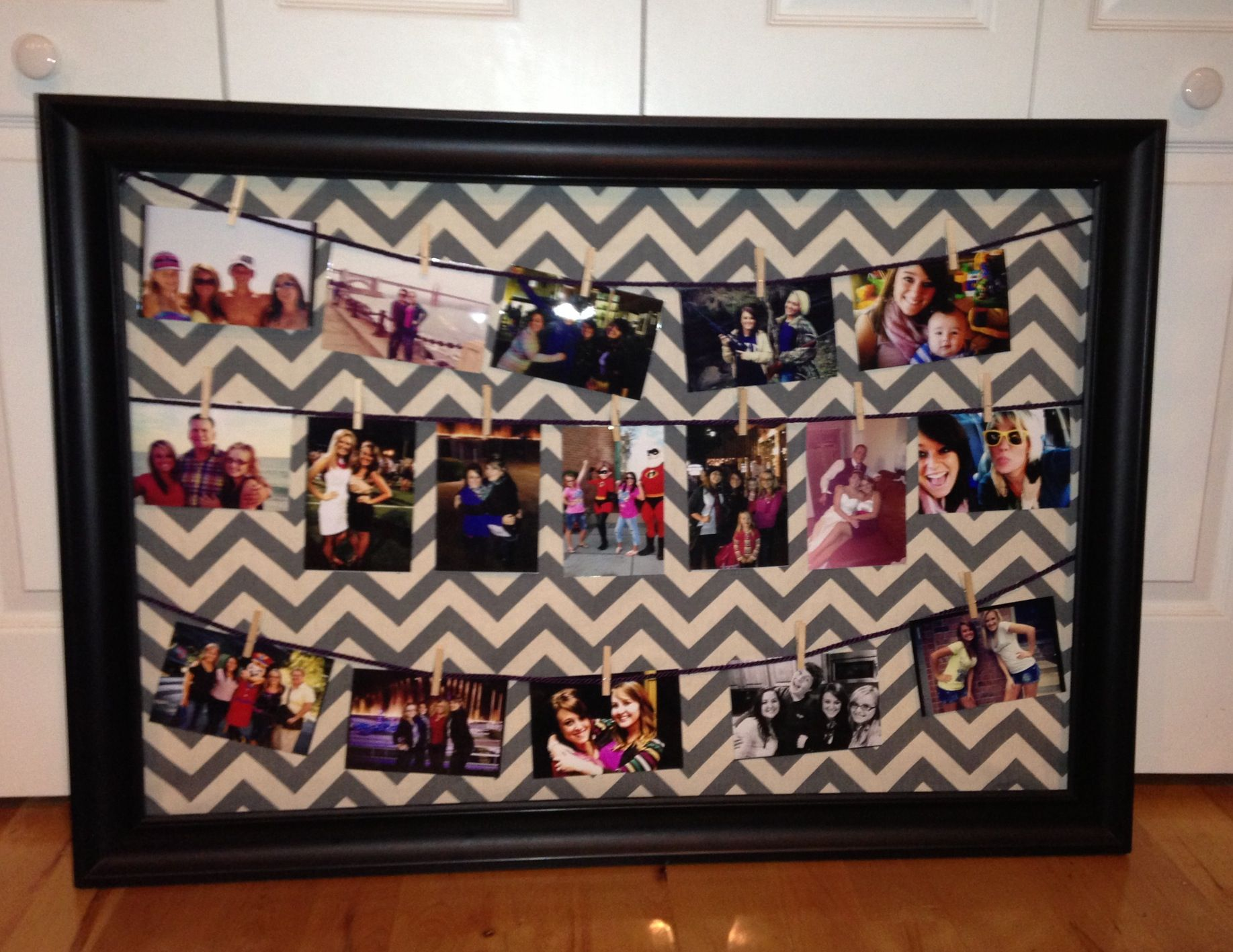 Picture frame collage mom and I made for my bedroom