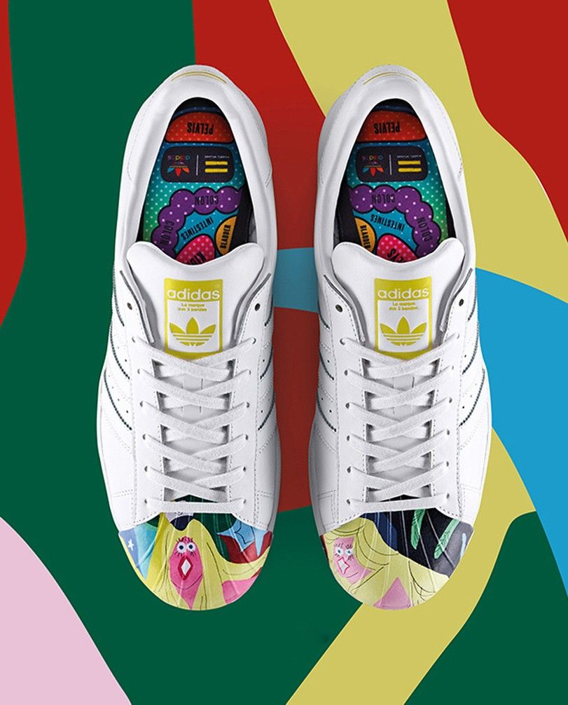 hot sales a0c84 021c3 Adidas Superstar x Pharrell Williams Supershell Todd James Graphic  Beiläufig…