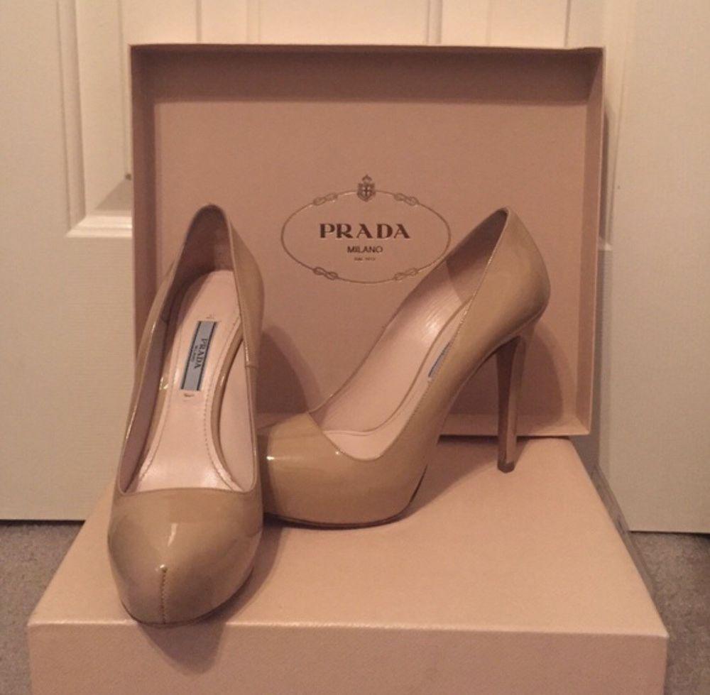 20e16f0cee4ca Nude Patent Leather Prada Pumps #fashion #clothing #shoes ...