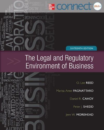 Legal and Regulatory Environment of Business with Connect Plus by O. Lee Reed. $223.37. Edition - 16. Publication: March 6, 2012. Publisher: McGraw-Hill/Irwin; 16 edition (March 6, 2012). Still in Original Shrink Wrap - Connect Plus Card Included With Unused Code - Perfect Condition - Brand New - Never Been Used - Shipped Carefully via USPS with Insurance from Texas.                                                         Show more                               Show less
