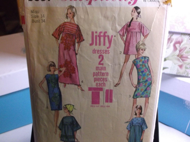 Muu Muu or Towel Dress Beach Cover Vintage Sewing Pattern Simplicity ...