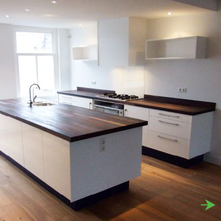 Houten werkbladen op pinterest houten keuken werkbladen houten keuken werkbladen en - Keuken met teller ...
