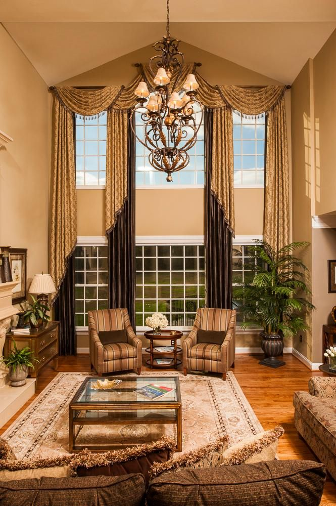 Challenging Windows Beautiful Results High Ceiling Living Room
