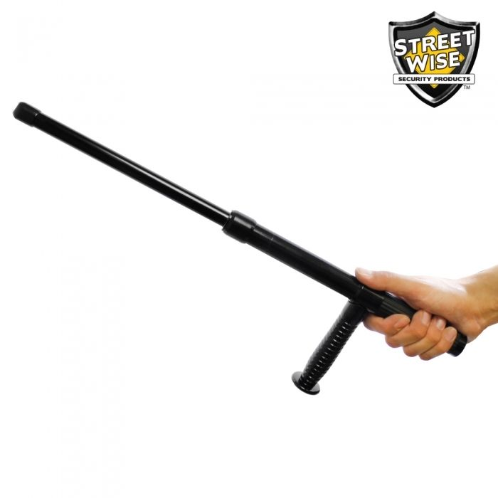 Personal Police Force 21 Black Expandable Tonfa Baton Police Force Police Baton