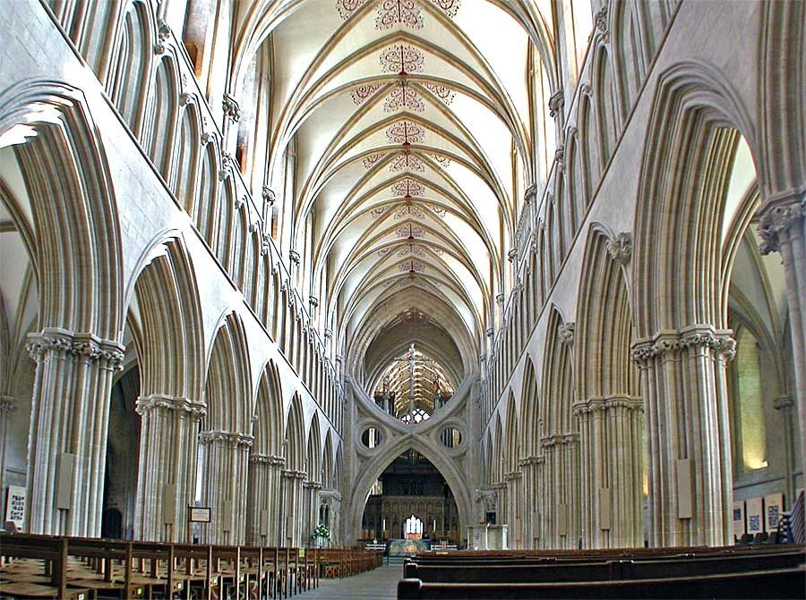 Wells Cathedral, England. When I saw this place I thought it could ...
