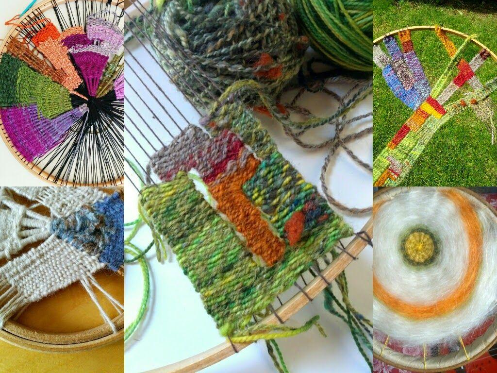 Craftophilia- Circular weaving using yarn scraps and embroidery ...