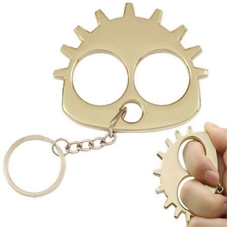 brass knuckles | weapons brass knuckles # ku9006g gearhead slammer knuckle keychain ...