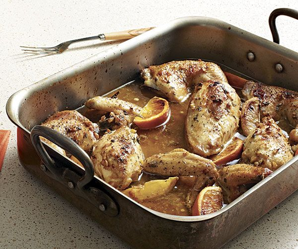 Citrus-Marinated Roasted Chicken #finecooking