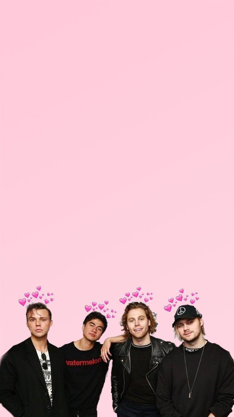 5sos Pink Wallpaper 5sos Wallpaper 5sos 5 Seconds Of Summer