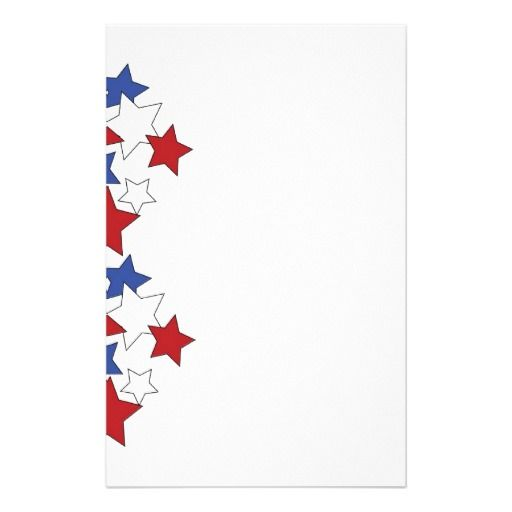 Red, White & Blue stars stationary Stationery Design by cvanwagoner