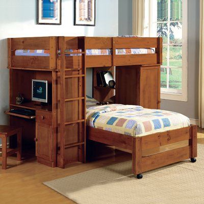 Twin Over L Shaped Bunk Bed