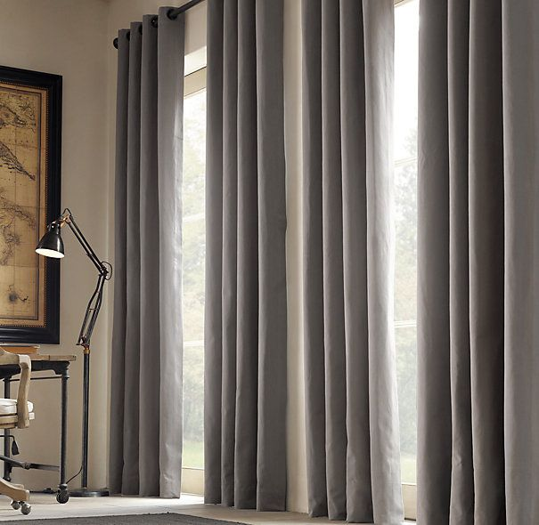 grommet curtains. the style, but in dark sage green in a sueded ...