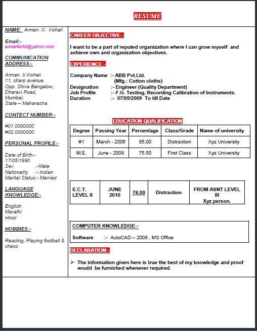 appointment letter marathi language application sample format noc