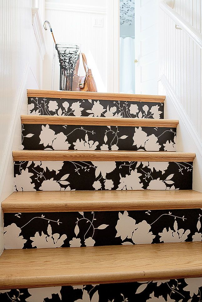How to Create Wallpapered Stairs Wallpaper stairs, Home