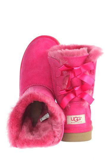 #xmas #gifts #ugg Roze Ugg kinderschoenen Bailey Bow boots