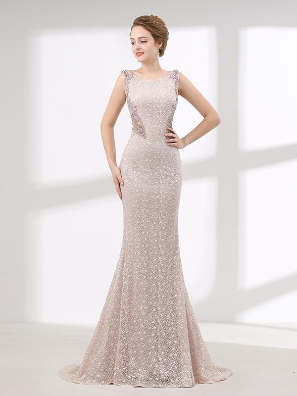 e54137bfbb0 Elegant Long Formal Prom Evening Dress wtih Beautiful Back Design ...