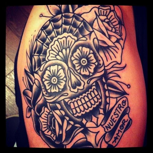 Pin By Kerry Eccles On Tattoos: Sugar Skull Tattoos, Tattoos