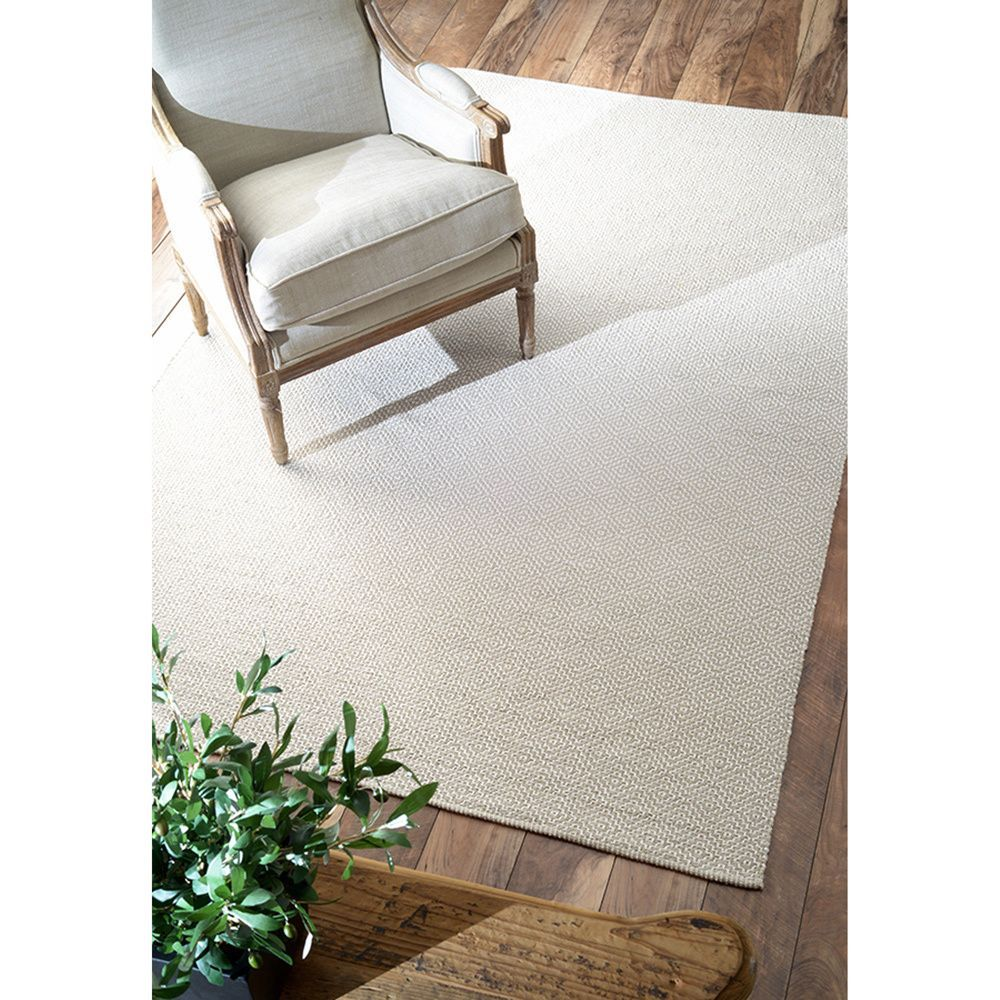 nuLOOM Handmade Flatweave Diamond Cotton Rug (8' x 10') (Grey), Size 8' x 10'