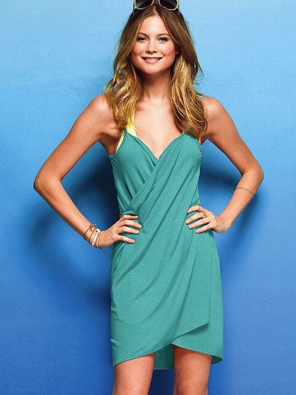c8b647a0ca865 Victoria's Secret Wrap Cover-up Dress <3 Your answer to ultra-easy beach  chic. Our curve-hugging cover-up tee dress redefines effortless style in a  clever ...