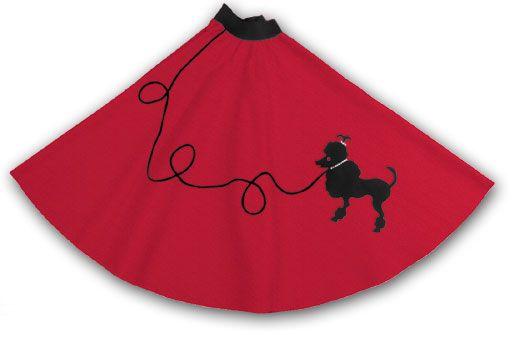 Ladies Poodle Skirt