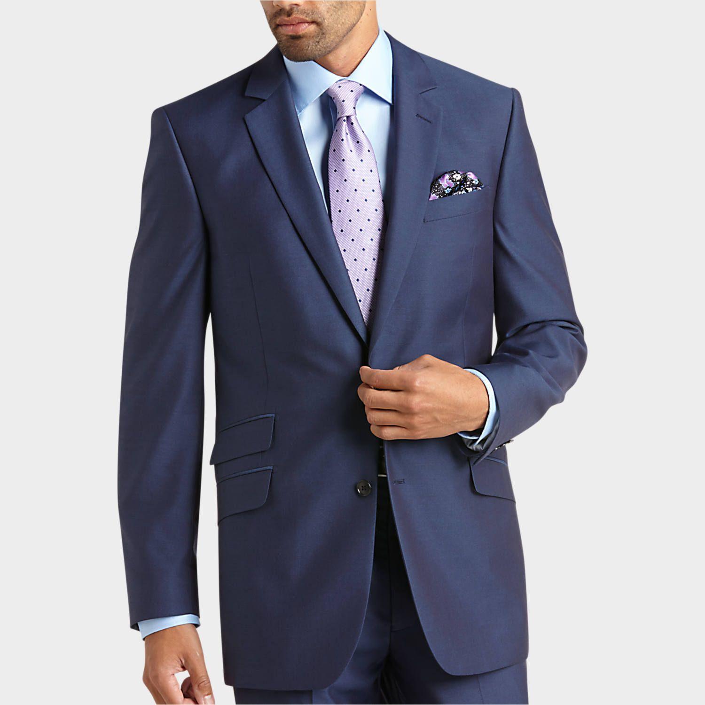 English Laundry Blue Slim Fit Suit