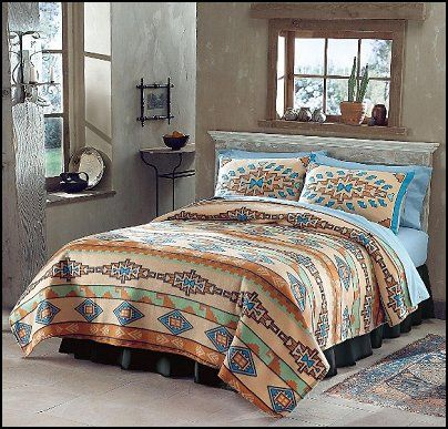 colors of the southwest | Southwest+style-Southwest+bedrooms ...
